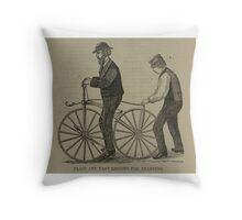 Vintage bike 7 Throw Pillow