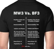 MW3 vs BF3  Unisex T-Shirt