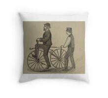 Vintage bike 9 Throw Pillow