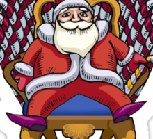 Santa is Coming Sticker