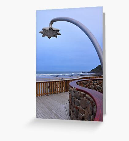 Shower block, Godfrey's Beach, Stanley, Tasmania Greeting Card