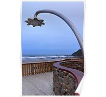Shower block, Godfrey's Beach, Stanley, Tasmania Poster