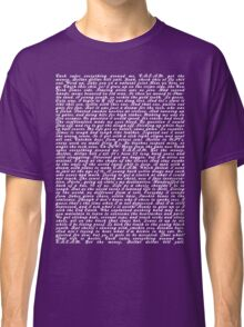 Wu-Tang Clan - C.R.E.A.M. lyric wall Classic T-Shirt