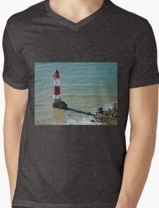 Beachy Head Lighthouse Mens V-Neck T-Shirt