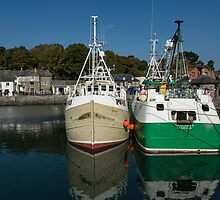 Padstow Fishing Boats by Brian Roscorla