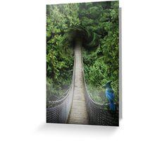 Lynn Canyon , suspension bridge Greeting Card