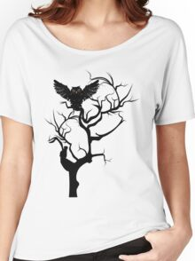 Black Owl 7 Women's Relaxed Fit T-Shirt