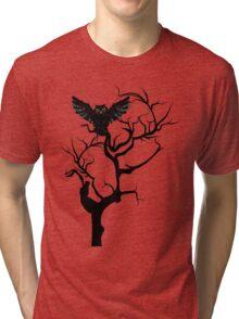 Black Owl 7 Tri-blend T-Shirt