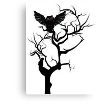 Black Owl 7 Canvas Print