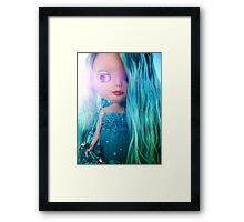 Custom Mermaid Blythe Doll Bathed in Sunlight Framed Print