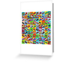 Cars 2 Flat Vehicle Isometric Greeting Card