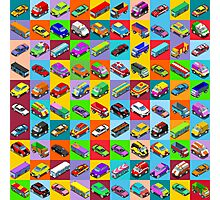 Cars 2 Flat Vehicle Isometric Photographic Print