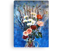 Red Dogwood Bolting Canvas Print
