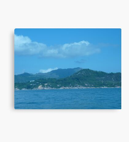 Snake cloud over waves of mountains Canvas Print