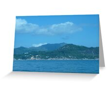 Snake cloud over waves of mountains Greeting Card