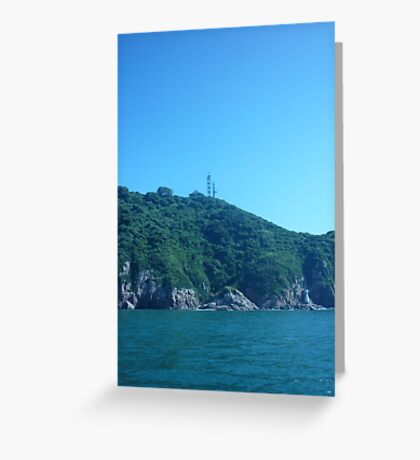 Waves of greenery drifting towards the sea Greeting Card