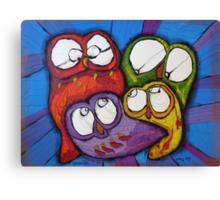 Owl Family Canvas Print