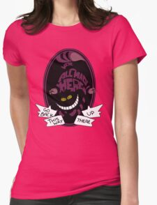 Cheshire Sticker Womens Fitted T-Shirt