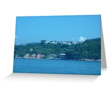 Mansions on top of island Greeting Card