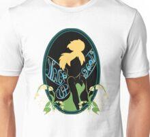 """""""Never Grow Up"""" Sticker Unisex T-Shirt"""