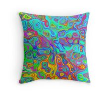 Psychedelic Spring Throw Pillow