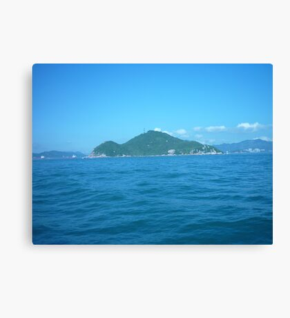 A tiny little island Canvas Print