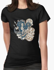 The Dark Mermaid Princess Womens Fitted T-Shirt