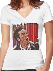Shocked Kramer Women's Fitted V-Neck T-Shirt
