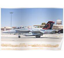 EA-18G Growler 166894 Landing Poster