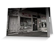Closed for Business, the Old Corner Store Greeting Card