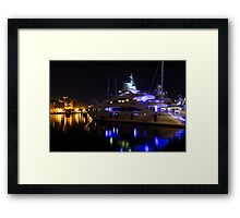 Reflecting on Malta - Grand Harbour Marina Framed Print