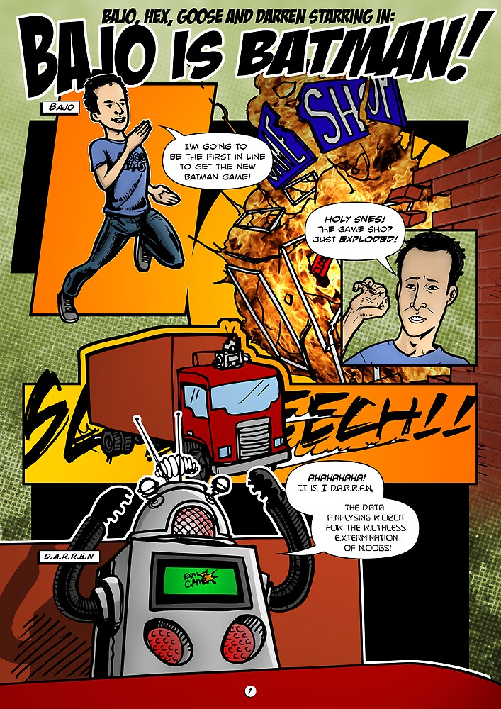 Page 1 of Good Game Batman Comic submission - Colourised! by Michael Lee