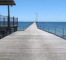 Renovated Streaky Bay Jetty, West Coast, Sth. Australia. by Rita Blom