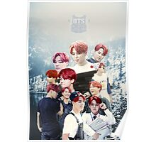 BTS/Bangtan Sonyeondan - Jimin with Red Hair Collage Poster