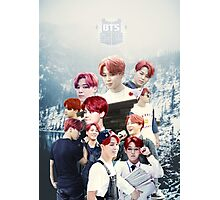 BTS/Bangtan Sonyeondan - Jimin with Red Hair Collage Photographic Print