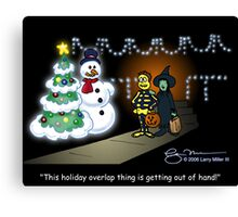 Holiday Overlap Canvas Print