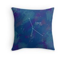 Cosmic Starsign Astrology Constellation - Cancer Throw Pillow