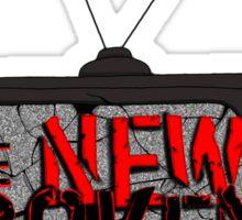 The New Broken Scene w/ Broken TV Sticker