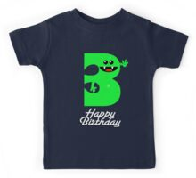 HAPPY BIRTHDAY 3 Kids Tee