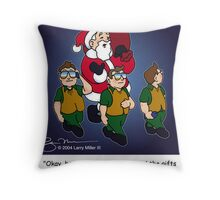 Santa's Secret Service Throw Pillow