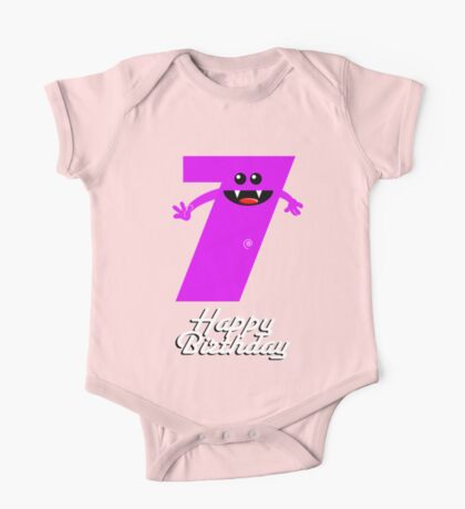 HAPPY BIRTHDAY 7 One Piece - Short Sleeve
