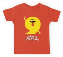 HAPPY BIRTHDAY 9 Kids Tee