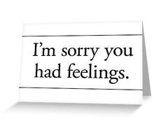 Cards for Engineers - Feelings Greeting Card