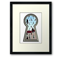 """Magritte from the lock"" Framed Print"