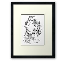 The Empress & The Giant JellyFish Framed Print