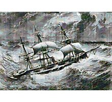A digital painting of the Captain a double-screw armour-plated vessel Photographic Print