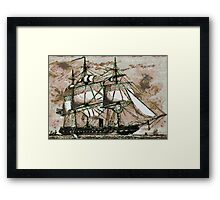 The Original Merrymac, when still  belonging to the United States Navy Framed Print