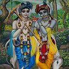 Krishna and Balaram by Vrindavan Das