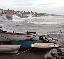 Dawlish Harbour in a storm by daynov