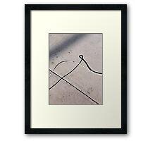 Loopy Shadow Framed Print